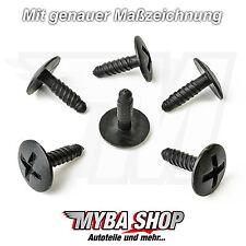 KUNSTSTOFF SCHRAUBE HALTER BEFESTIGUNG CLIPS VW GOLF T5 7H0915450 KLIPS NEU x15