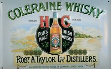 Blechschild Coleraine Irish Malt Whisky Schild retro Nostalgie Werbeschild