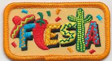 girl boy cub FIESTA FUN Mexican Party Food patches crests badges SCOUTS GUIDES