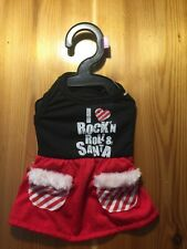 Costume Dog Bret Michaels Pets Rock I love Rock'n Roll & Santa Candy Dress XS