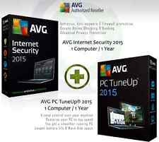 AVG internet security 2015 + AVG PC TuneUp ® 2015 - 1 Utilisateur 1 An | License seulement