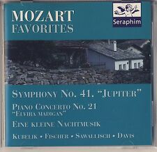 Mozart Favorites - Kubelik, Fischer, Sawallisch, Davis (Seraphim UK) Like New
