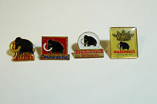 Pins  - Lot de 4 pin's Mammouth ( PL33 )