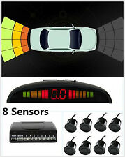 Car LED Display 8 Parking Sensor Front &Rear Reversing Backup Radar Alarm System