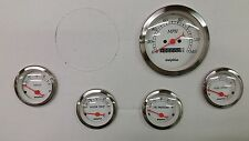 5 gauge White mechanical speedometer set