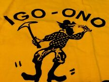 "Vintage 70s CHAMPION BLUE BAR ""IGO-ONO MINERS"" All Cotton Yellow T Shirt. Size M"