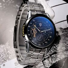 Tevise 8378 Automatic Mechanical Men Watch Countdown 24 Hour Stainless Steel Wri
