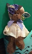 "Bearington Bears Collection Sandy Bear 10"" Limited #1472 Retired Plush Lavender"