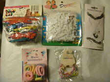 Mixed girls  accessories new -Barrettes, scrunches, bracelets and more 5 PKs.