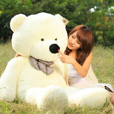 "31"" Stuffed Giant White Plush Teddy Bear Huge Soft 100% Cotton Doll Gift 80cm US"