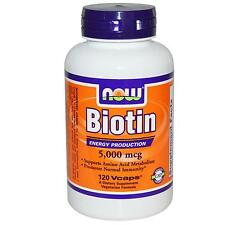 Biotin (Vitamin B7) - 120 - 5000mcg Vcaps by Now Foods - for Energy Production