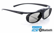 3D Brille Hi-SHOCK Black Heaven für Bluetooth TV Sony Samsung Sharp Hisense