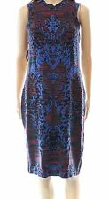 M By Missoni NEW Red Blue Women's Size 10 (46) Stretch Sweater Dress $180 #332