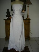 New White Designer Pearl Strapless Wedding Dress Cheap Price Low Budget 10