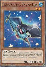 YU-GI-OH CARD: PERFORMAPAL SWORD FISH - MP15-EN063 - 1st EDITION