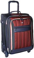 "Tommy Hilfiger Luggage Classic Sport 21"" Expandable Spinner Carry On - Navy/Burg"