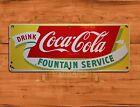 """TIN-UPS TIN SIGN """"Coca-cola Fountain"""" Cola Soda Pop Rustic Wall Decor"""
