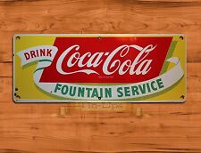 "TIN-UPS TIN SIGN ""Coca-cola Fountain"" Cola Soda Pop Rustic Wall Decor"