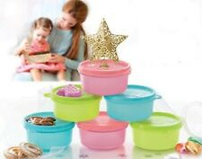 Tupperware Sweet Mini Keeper Round Container 200ml set of 6