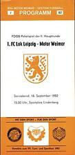 Comedores-trofeo 82/83 BSG Motor Weimar - 1. FC Lok Leipzig, 18.09.1982