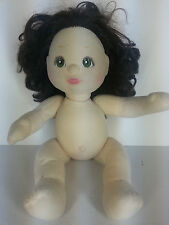 My Child Girl Doll Brunette Green Eyes Dark Brown Hair Naked No Clothes