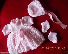 "Doll Clothes pink dress set fit 12"" Corolle, Am.Charac.11, Vogue 12"" Tiny Tears"