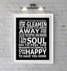 Ben Howard Keep Your Head Up Lyrics Typography Subway Art Poster Print A4 A3