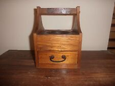 Old Fashioned Japanese Ashtray with Wooden Drawer