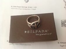 SILPADA .925 STERLING SILVER PEACE RING R2004 SIZE 5