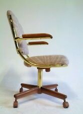 11 Vintage Milo Baughman Dining MidCentury Modern Chair Office Brass Swivel Clam