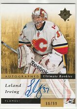 2011 11-12 Ultimate Collection #125 Leland Irving AU 66/99 RC rookie autograph