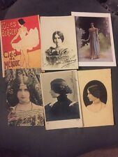 Cleo De Merode Signed Postcard Bundle