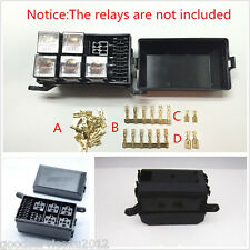 New Black Car Vehicles 6-Relay 5 Road Relay Box Relay Fuse Holder Insurance Tool