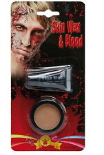 ZOMBIE FAKE-HAUT 3D-Masse MAKE-UP FILM-BLUT Verweste Haut SCHMINKE VAMPIR Hexe