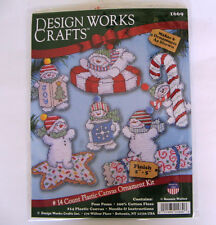 Plastic Canvas Christmas Ornaments Kit 6 designs for 14 count Design Works NIP