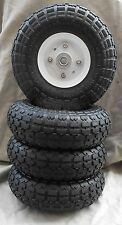 "4 TIRES 10"" NEW STEEL AIR PNEUMATIC, HAND TRUCK DOLLY, WAGON  WHEEL"