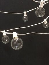 48 Bulb Outdoor Patio Lights White Wire G50 Special 6'' Spacing for More Lights