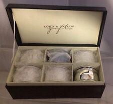 Lord & Taylor Napkin Rings Holders Silver Plated Simply Chic Set of 6 NIB