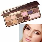 New 16 Color Warm Pro Eyeshadow Choclate Cosmetic Makeup Palette & Mirror Set