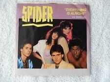 "Spider ""Everything Is Alright/Shady Lady"" Picture Sleeve 45 RPM Record"
