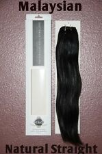 "2 packs 20"" TRUE VIRGIN Remy Human Hair Extensions Malaysian Natural Straight"