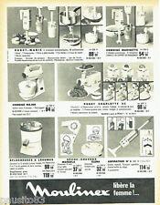 PUBLICITE ADVERTISING 036  1965  Moulinex   robots aspirateur  séche-cheveux com