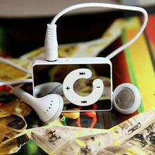 Lot10PCS Mirror Mini Clip White USB Digital Mp3 Player Support 1-16GB SD TF Card