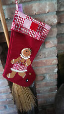 Christmas Stocking Gingerbread Girl  NWT!!  Country Decor !!