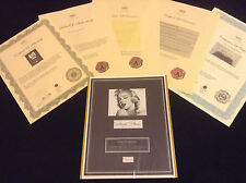MARILYN MONROE AUTHENTIC HairLock w Photo Autograph Provenance Signed Certified