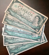 1867 - 1967 Canada Commemorative $1 bill - 5 X Canadian One Dollar Notes #1