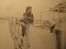 ANTIQUE 1899 NY BEACH BOARDWALK CAPUCHIN MONKEY WORKS FOR ORGAN GRINDER  PHOTOS