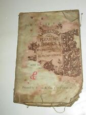 INDESTRUCTIBLE PLEASURE BOOKS OLD MOTHER HUBBARD VINTAGE CLOTH CHILDRENS BOOK