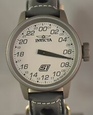New Mens Invicta 17706 S1 Rally Swiss White Dial Grey Leather Watch
