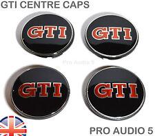 4 x GTI Wheel Centre Hub Caps 65mm - Fits VW GOLF PASSAT POLO SCIROCCIO GTI UK